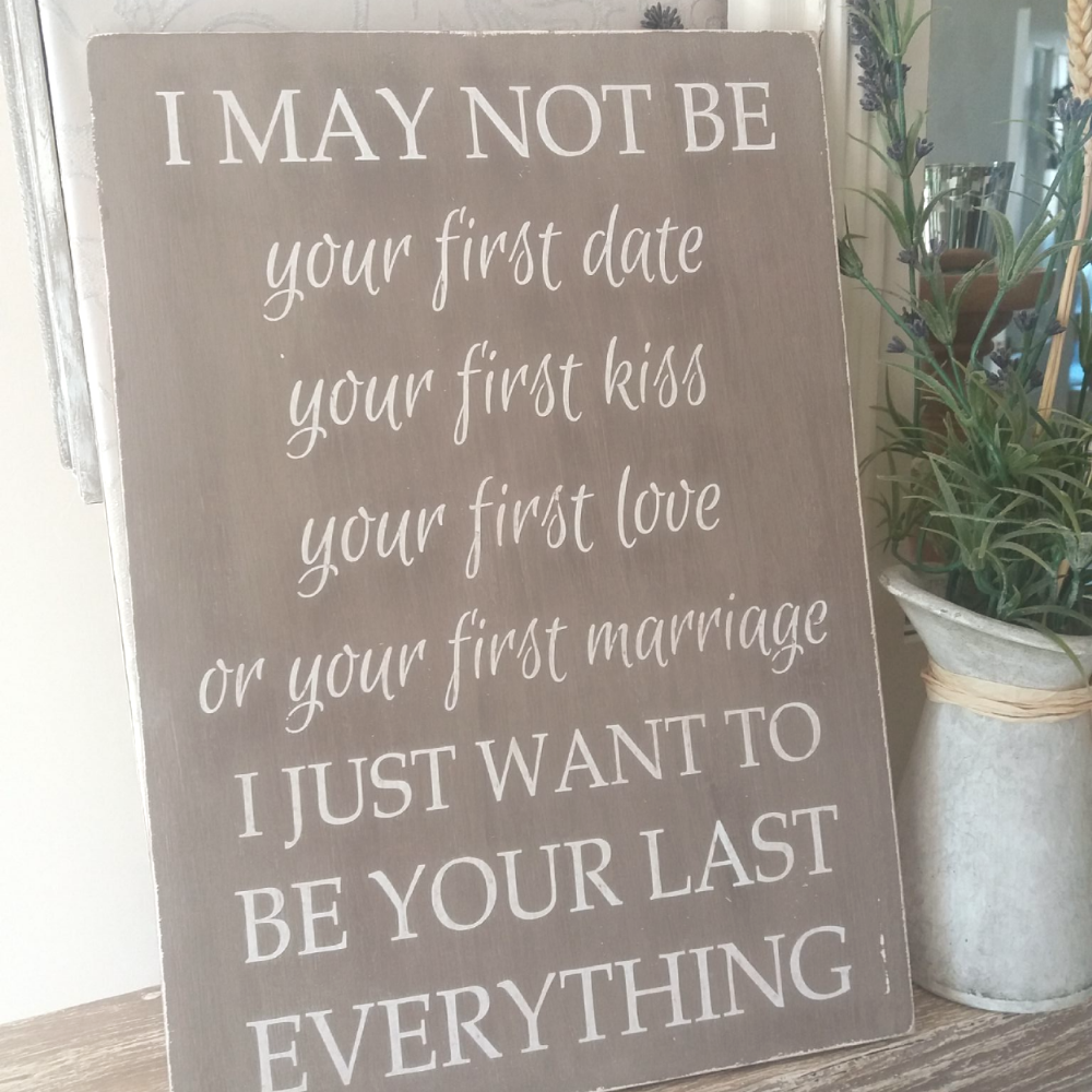 Large Wooden Wedding Anniversary Gift Plaque